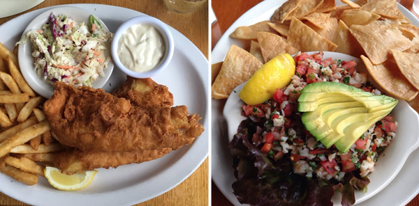 Fish & Chips and Ceviche at North Coast Brewing Company